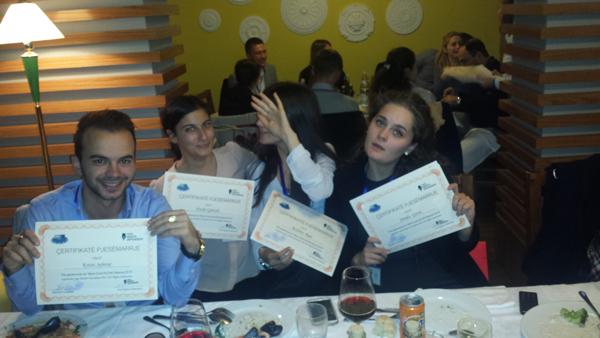 """Skuadra e UMB-së kalon  ne finalen e konkursit """"Gjyqi simulues i GJEDNJ – Shqipëri 2015"""""""